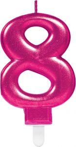Rođendanska svjećica broj 8 Ciklama