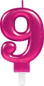 Rođendanska svjećica broj 9 Ciklama