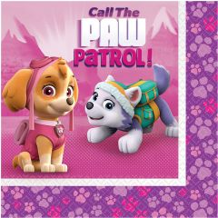 Pink Paw Patrol salvete 33x33 cm