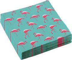 Flamingo Paradise salvete 33x33 cm