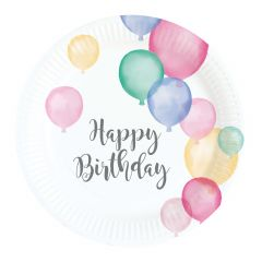 Happy Birthday Pastel tanjuri 18 cm