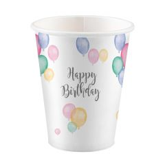 Happy Birthday Pastel čaše 250ml