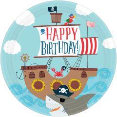 Ahoy Birthday tanjuri 23 cm