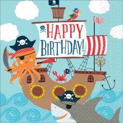 Ahoy Birthday salvete 33x33 cm