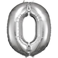 Folijski balon broj 0 Silver