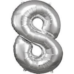 Folijski balon broj 8 Silver