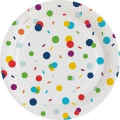 Confetti Birthday tanjuri 18 cm