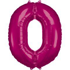 Folijski balon broj 0 Pink