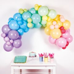 Diy Balonska girlanda Pastel Rainbow