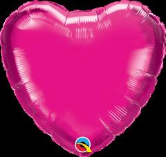 Mini Srce folijski balon na štapiću 22,5cm - Magenta