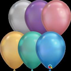 Lateks baloni 28cm Chrome Assortment