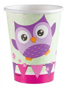 Happy Owl čaše 250ml