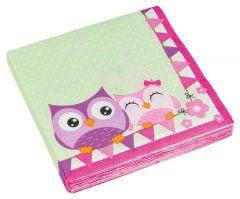 Happy Owl salvete 33x33cm