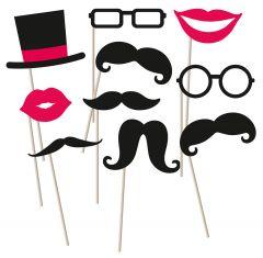 Moustache rekviziti za fotografiranje