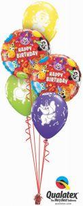 Buket balona Birthday Party Animals