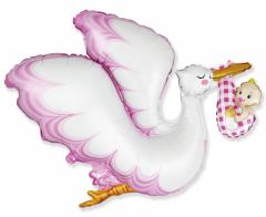 Folijski balon FX Stork Baby Girl