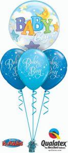 Helijski buket Bubble baloni Baby Boy