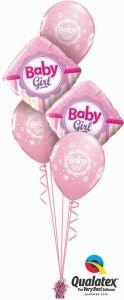 Buket balona Baby Girl Dots & Stripes