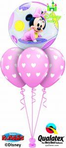 Helijski buket Bubble baloni Baby Minnie
