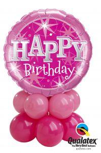 Balonska skulptura Bday Pink Sparkle
