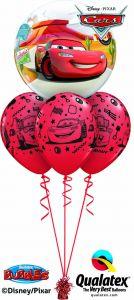 Helijski buket Bubble baloni Cars