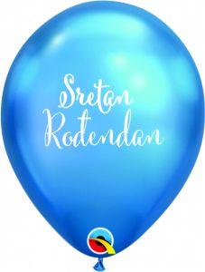 Lateks baloni Sretan rođendan Chrome Blue