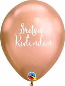 Lateks baloni Sretan rođendan Chrome Rose Gold