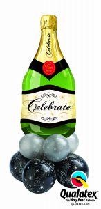 Balonska skulptura velika Congratulations Bubbly Wine Bottle