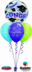 Helijski buket Bubble baloni Congratulations Graduate Bubble