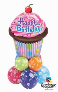 Balonska skulptura velika Birthday Frosted Cupcake