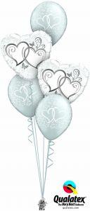 Buket balona Entwined Hearts Silver