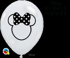 Lateks baloni 28cm Minnie Mouse Silhouette DC