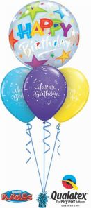 Helijski buket Bubble baloni Bday Bubble