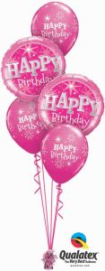 Buket balona Bday Pink Sparkle