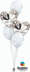 Buket balona Mr. & Mrs.