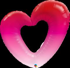 Maxi Ombre Heart folijski balon