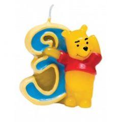 Winnie Pooh svijeća broj 3