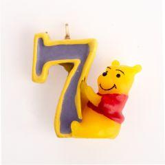 Winnie Pooh svijeća broj 7